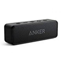 Altavoz inalámbrico Bluetooth Anker SoundCore 2, batería de 24 horas, protección contra el agua IPX7, graves enormes con dos controladores de graves