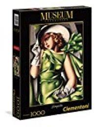 Clementoni - Puzzle 1000 Piezas, diseño Tamara De Lempicka : Mujer de Verde (39332.4)