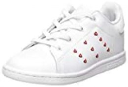 adidas Stan Smith El I, Zapatillas Unisex Niños, FTWR White/FTWR White/Lush Red, 34 EU
