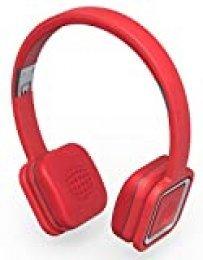 Ministry of Sound Audio On Plus Auriculares sobre la oreja plegables inalámbricos Bluetooth/NFC con cancelación de ruido, controles/micrófono, el cable y funda de transporte protectora, compatible con Smartphones y tabletas iOS y