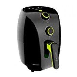 Cecotec Cecofry Compact Rapid - Freidora Dietetica sin Aceite,  900 W, Temperatura Ajustable hasta 200ºC, Temporizador 30min, Incluye Recetario, Capacidad 1,5L (400gr patatas)