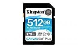 Kingston SDG3/512GB Tarjeta de memoria SD  ( 512GB SDXC Canvas Go Plus 170R C10 UHS-I U3 V30 )