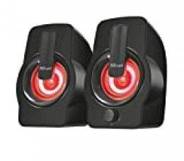 Trust Gemi 2.0 - Juego de altavoces con un diseño elegante e iluminación LED RGB, negro