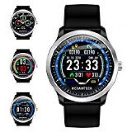 Vicsainteck Reloj Inteligente, Smartwatch con Pulsómetro Pulsera Actividad Multifuncion Color Monitor Reloj Deportivo Monitor de Sueño Hombre Mujer niños para Android y iOS