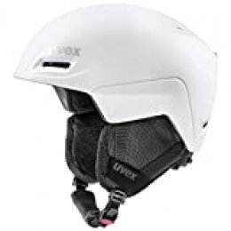 uvex jimm Casco de esquí, Adultos Unisex, Blanco, 52-55 cm