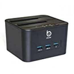 Finerolls- HDD/SSD Docking Station de USB 3.0 para 2.5/ 3.5 Base para Disco Duros