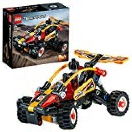 LEGO Technic - Buggy, Set de Construcción 2 en 1 de Coche de Carreras y Todoterreno de Exploración Naranja con Sistema de Suspensión, a Partir de 7 Años (42101)