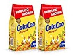 Cola Cao Original: con Cacao Natural y sin Aditivos - Formato Ahorro Refill en Envase de 1200 gramos [Pack de 2]