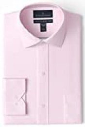 "Buttoned Down Tailored Fit Spread Collar Solid Non-Iron Dress Shirt Camisa, Rosa (Light Pink), 16.5"" Neck 34"" Sleeve (Talla del fabricante:):)"