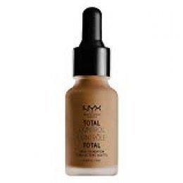 NYX Professional Makeup Base de maquillaje Total Control Drop Foundation, Dosificación precisa, Cobertura modulable, Larga duración, Fórmula vegana, Acabado mate, Tono: Deep Sable