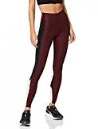 Marca Amazon - AURIQUE Bal1042 - Mallas de Entrenamiento Mujer, Rojo (Port Royale/Black/Blush), 44, Label:XL