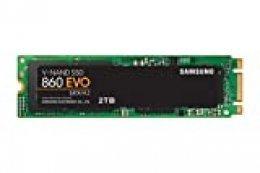 Samsung MZ-N6E2T0BW 860 EVO M.2 - Disco estado solido SSD, 550 megabytes/s, color verde/negro, 2 TB