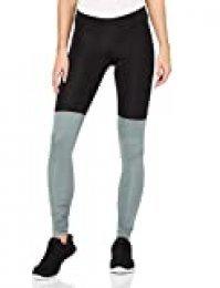 Activewear Mallas de Deporte en Contraste para Mujer, Negro (Black/grey Marl), 38 (Talla del fabricante: Small)