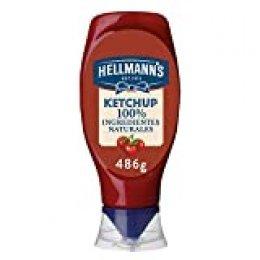 Hellmann's Original - Ketchup 100% Ingredientes Naturales, 4 x 486 gr
