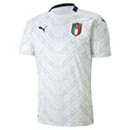 PUMA FIGC Away Shirt Replica Maillot, Hombre, Puma White-Peacoat, S