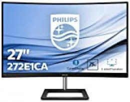 "Philips 272E1CA/00 Monitor de 27"" Curvo FHD (1920 x 1080 Pixeles, 4 ms, Altavoces, FreeSync/AdptiveSync, FlickerFree, HDMI, Displayport)"