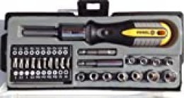 VOREL 64660 - destornillador de trinquete con los bits y 36pcs del juego de tubos
