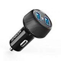Anker Power Drive 2Elite 24W 2Port - Cargador de Coche con tecnología PowerIQ para iPhone, iPad Air/Mini, todos los smartphones, Power Banco y más