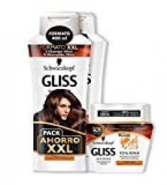 Gliss - 2 Champús 400 ml + 1 Mascarilla Reparación Total 300 ml - Schwarzkopf