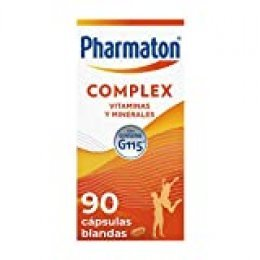 Pharmaton - Multivitamínico con ginseng, Complex 90 cápsulas, Ayuda a recuperar la energía