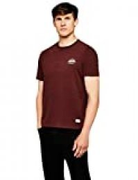 HIKARO Camiseta Manga Corta Hombre, Rojo (Burgundy), 48 (Talla del fabricante: Small)