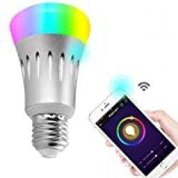 Bombilla LED Wallfire, 7W, E27,con control remoto inalámbrico vía WiFi