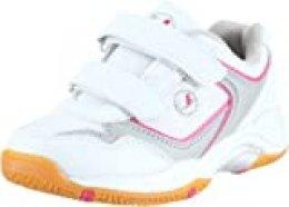 Ultrasport Sport Indoor Schuh, Zapatillas de Deporte Niños Unisex, Blanco (White/Pink 100), 34 EU