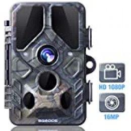 SGODDE Cámara de Caza, 16MP 1080P con Infrarrojos 20M Visión Nocturna 120 ° Gran Angular Impermeable IP66 0,4 Segundos Tiempo de Disparo
