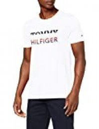 Tommy Hilfiger Corp Texture Embro tee Camiseta Deporte, Blanco (White), XX-Large (Talla del Fabricante:) para Hombre