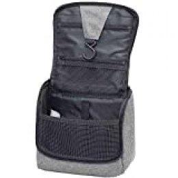 IHOMAGIC Bolsa de Cosméticos Neceser de Viaje para Colgar Bolsas de Aseo Cosméticos Organizador Accesorios de Baño Bolsas de Aseo Personal Viajes Vacaciones Viajes de Negocios 23x10x20cm, Gris