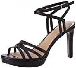 Guess Beachie (Sandal)/Leath, Sandalia con talón para Mujer, Negro, 40 EU