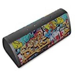 MIFA Altavoz Bluetooth, Tecnología TWS y DSP, IP45 Impermeable y Anti-Polvo con Entrada el Audio de 3,5 mm, 10W con 2200 mAh Batería Li-Ion, Tarjetas Micro SD y Micrófono Incorporado, Graffiti