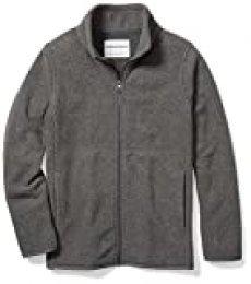 Amazon Essentials Fleece-Outerwear-Jackets, Jaspeado Gris carbón, S