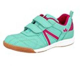 Lico First Indoor V, Zapatillas de Deporte Interior para Niñas, Turquesa (Türkis/Pink Türkis/Pink), 28 EU