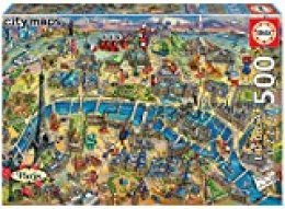 Educa Borras - Serie City Maps, Puzzle 500 piezas Mapa de París