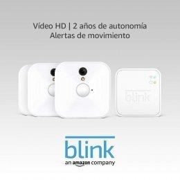 Blink Sistema de Cámaras de Seguridad para Interiores con Detección de Movimiento, Vídeo HD, 2 Años de Autonomía y Almacenamiento en el Cloud - 3 Cámaras