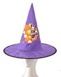Ciao - Gorro Cono de Bruja de Tela Basic Disney Halloween Minnie Accesorios para niños, Violeta, Talla Única 31354