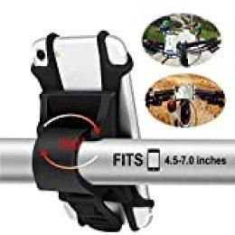 Soporte Movil Bici [2020 Diseño Desmontable], Wiecok Bicicleta Soporte de Teléfono 360° Rotación, Anti Vibración Prevención, Soporte Universal Manillar de Silicona para 4.5-7.0 Inch Smartphones
