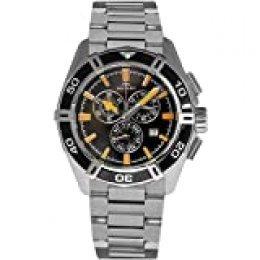 Rotary AGB90088/C/04 - Reloj de Pulsera Hombre, Acero Inoxidable, Color Plateado