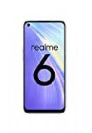 "realme 6 – Smartphone de 6.5"", 4 GB RAM + 128 GB ROM, Procesador OctaCore, Cuádruple Cámara AI 64MP, Dual Sim, Color Comet White"
