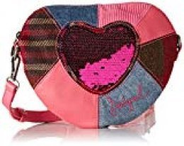 Desigual 19WGXW01 - Cartera para mujer de Sintético Niñas Rosa Pink (Rosa) 20x4x24 cm (B x H x T)