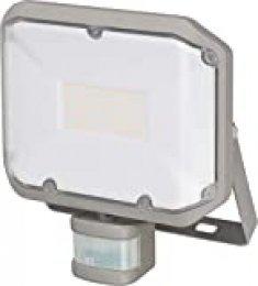 Brennenstuhl Foco LED AL 3000 P con Detector de Movimiento por Infrarrojos 30W, 3050lm, IP44, Gris