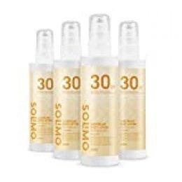 Marca Amazon - Solimo - SUN - Loción solar corporal FPS 30, con vitamin E, antioxidante (4x200ml)