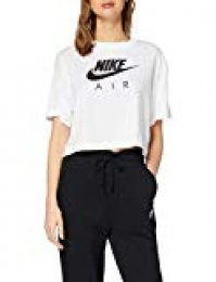 Nike W NSW Air Top SS T-Shirt, Mujer, White, L