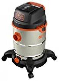 Black Decker 51688 Aspiradora, 1600 W, inox, con depósito 30 litros