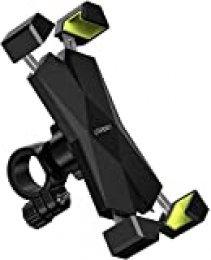 UGREEN Soporte Movil Moto Bicicleta Manillar, Universal Soporte Teléfono Móvil Motocicleta Bici 360° Rotación Ajustable para 4.7-6.5'' Smartphone iPhone 11 Pro/X/ 8, Samsung Note 10/ S9, Xiaomi Mi9