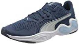 PUMA Cell Magma, Zapatillas de Running para Hombre, Azul (Dark Denim White 02), 44 EU