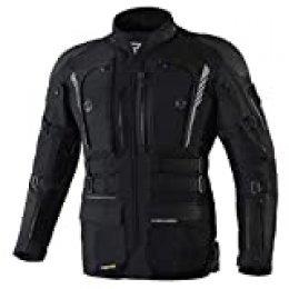 Rebelhorn Chaqueta de moto de tres capas Membrana Sympatex transpirable e impermeable, chaqueta softshell interior, protectores SASTEC Patrol Black S