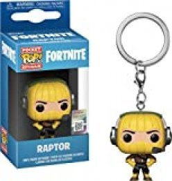 LAST LEVEL- Pocket Pop Keychain: Fortnite: Raptor Llavero, Multicolor (Funko 1)