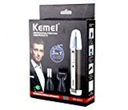Hombre Cortapelos Nariz y Orejas-USB Recargable Afeitadora 3 en 1 -Tijeras para Nariz y Oído y Cejas